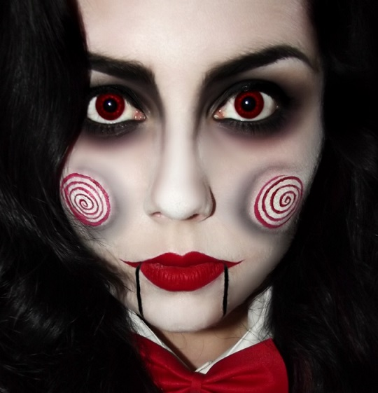 Maquillage halloween simple beaucoup d 39 effet - Image maquillage halloween ...