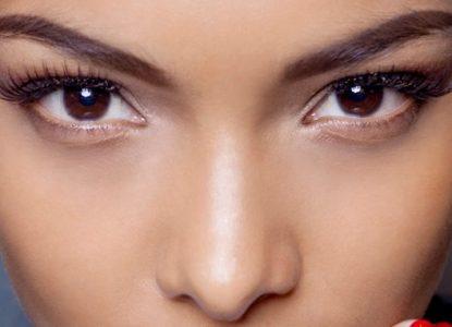maquillage des yeux marron