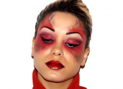 maquillage halloween diablesse