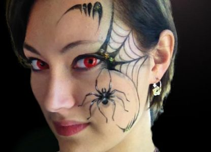 maquillage araignée halloween