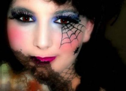 maquillage halloween femme simple