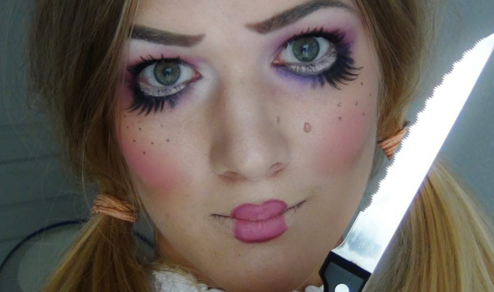 maquillage poupee halloween