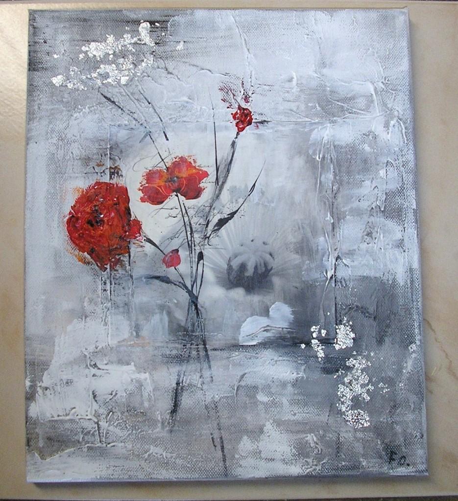 Comment peindre des fleurs - Tableau peinture grand format ...