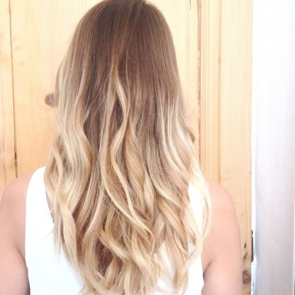 tie and dye blond sur blond