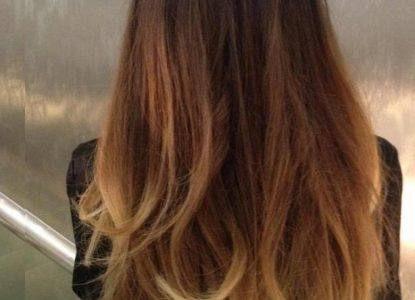 tie and dye blond sur brune
