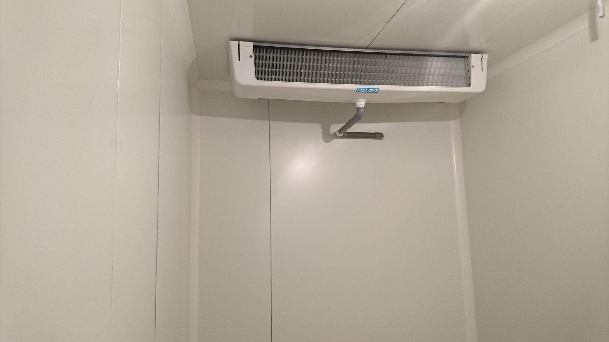 La taille d'une chambre froide