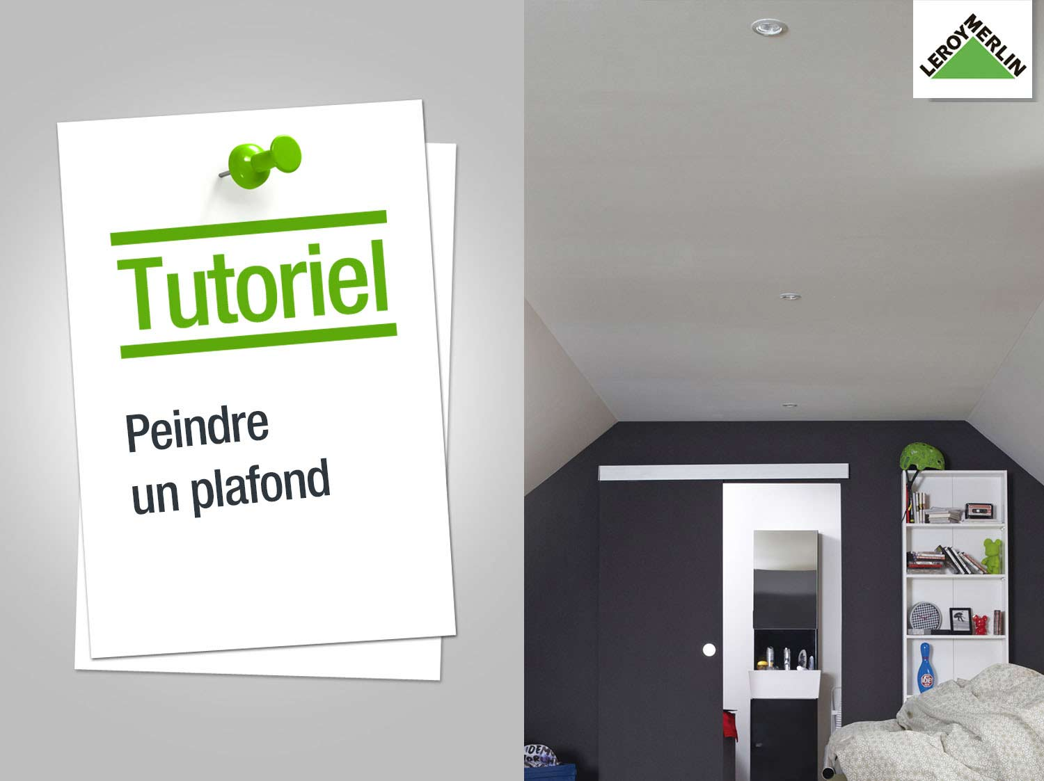 repeindre un plafond peindre un plafond repeindre un plafond avec poutres en bois apparentes. Black Bedroom Furniture Sets. Home Design Ideas