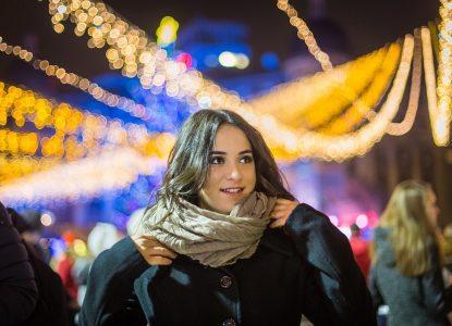 """moi Alexya avec un snood à la mode pour l""""hiver 2019 2020"""